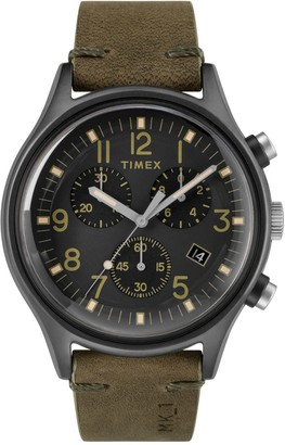 Timex Men's MK1 Steel SST Chronograph Quartz Leather Strap Watch, 42mm