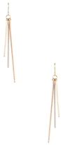 Candela 14K Tri-Tone Gold Stick Dangle Earrings