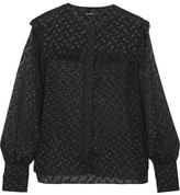 Isabel Marant Polka-dot Fil Coupé Blouse - Black