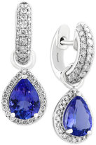 Effy Final Call Tanzanite (1-9/10 ct. t.w.) and Diamond (3/4 ct. t.w.) Drop Earrings in 14k White Gold