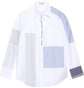 Acne Studios Sela Patchwork Cotton-poplin Shirt - White