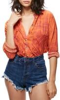 Free People Women's Button Down Cotton Shirt