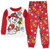 Paw Patrol Little Boys' Long Sleeve Cotton Pajama Sleepwear Set (T)