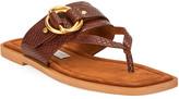 Stella McCartney Flat Exotic-Print Sandals