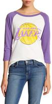 Junk Food Clothing Los Angeles Lakers 3/4 Length Sleeve Tee