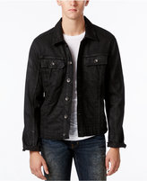 William Rast Men's Erwin Black Coated Denim Jacket