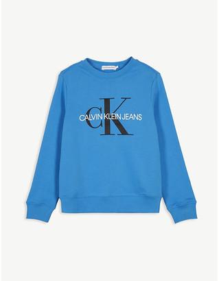 Calvin Klein Jeans Logo cotton jersey jumper 4-16 years