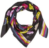 Kate Spade Winter Garden Square Scarf (Black) Scarves