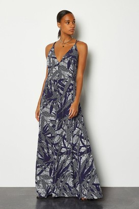 Karen Millen Batik Print Strappy Maxi Dress