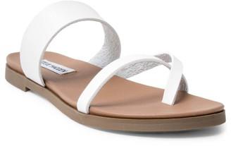 Steve Madden Women's Sandals WHITE - White Dario Leather Sandal - Women