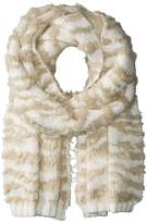 BCBGMAXAZRIA Textured Animal Knit Muffler Scarves