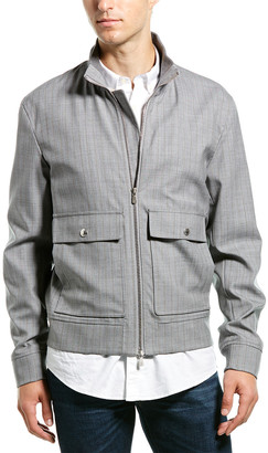 Brunello Cucinelli Pin Stripe Wool-Blend Jacket