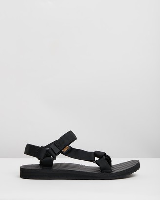 Teva Women's Black Flat Sandals - Original Universal - Women's - Size 5 at The Iconic