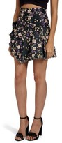 Missguided Women's Jacquard Floral Miniskirt