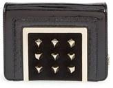Jimmy Choo 'Ava' Studded Patent Leather Clutch - Black