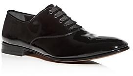 Salvatore Ferragamo Men's Belshaw Patent Leather Plain-Toe Oxfords