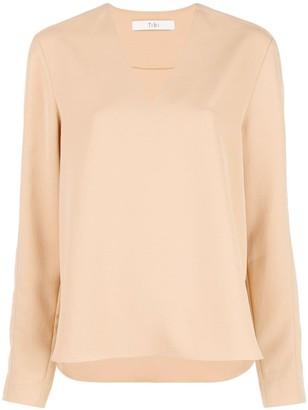 Tibi V-neck blouse