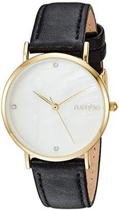RumbaTime Women's 'Lafayette' Genuine Black Leather Casual Watch (Model: 27730)