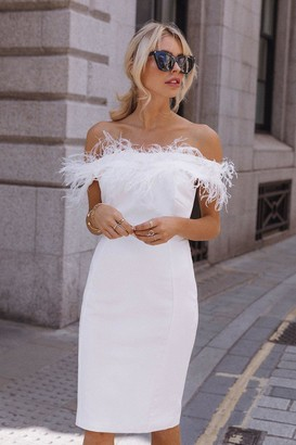 Coast Feather Bardot Dress