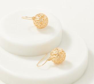 ADI Paz 14K Gold Filigree Bead Dangle Earrings