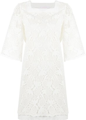 See by Chloe Pineapple-Knit Shift Dress