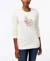 Charter Club Petite Bunny Graphic Sweater, Only at Macy's