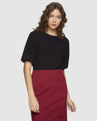 Oxford Ally Bubble Sleeve Knit