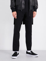 Helmut Lang Flap-detailed regular-fit tapered wool trousers