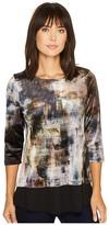 Karen Kane Velvet Contrast Hem Top Women's Clothing