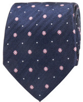 Geoffrey Beene Herringbone Floral Tie