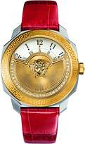 Versace Women's 'Dylos Icon' Swiss Quartz Stainless Steel and Red Leather Casual Watch (Model: VQU060015)