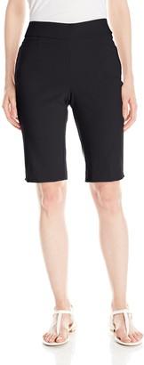 Briggs New York Women's Super Stretch Millennium Pull On Skimmer Short