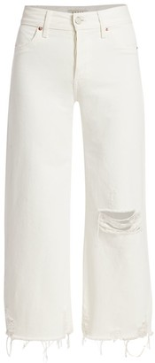 TRAVE Audrey Regular-Fit Crop Wide-Leg Jeans