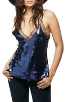 Free People Sassy Sequins Camisole