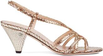 Gucci Women's python print sandal