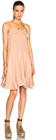 Chloé Gauzy Linen Ruffle Mini Dress
