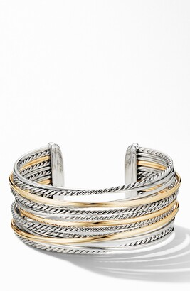 David Yurman Crossover® Wide Cuff Bracelet with 18K Yellow Gold