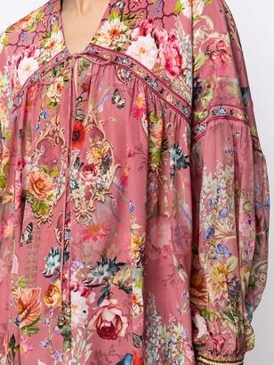 Camilla Floral-Print Silk Blouse