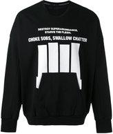 Julius lettering print sweatshirt