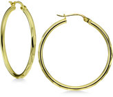 Giani Bernini Textured Thin Hoop Earrings in 18k Gold-Plated Sterling Silver, Only at Macy's
