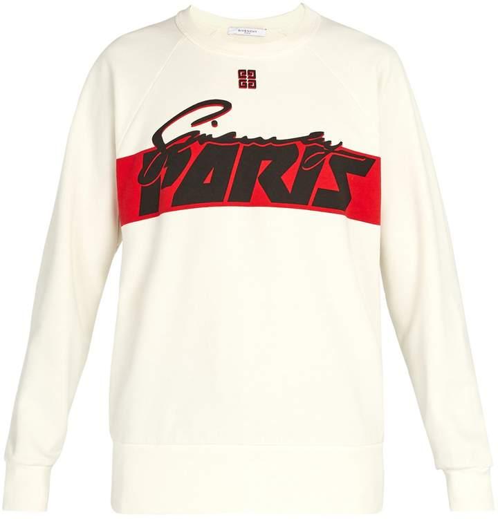 Givenchy Paris-print cotton sweatshirt