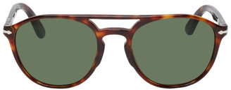 Persol Tortoiseshell and Green PO3170S Sunglasses