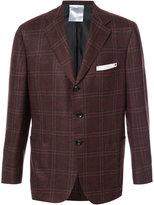 Kiton plaid blazer - men - Silk/Linen/Flax/Cupro/Cashmere - 54