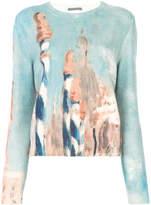 Alberta Ferretti patterned crew neck sweater