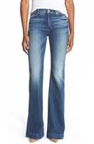 7 For All Mankind 'Tailorless - Dojo' Wide Leg Jeans (Lake Blue) (Short)