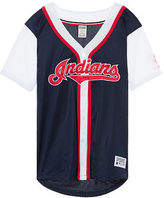 PINK Cleveland Indians Mesh Button Down Jersey