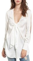 The Fifth Label Women's Knotted Hammered Satin Blouse