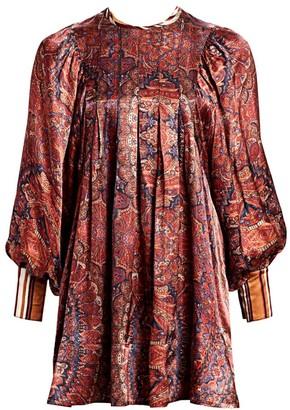 By Ti Mo Desire Paisley Silk Mini Dress