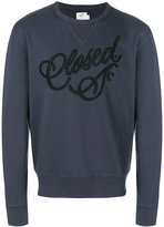 Closed logo embroidered sweatshirt - men - Cotton - S