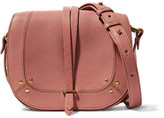Jerome Dreyfuss Victor Embellished Textured-leather Shoulder Bag - Antique rose